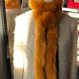 Zara Yellow Faux Fur Scarf.